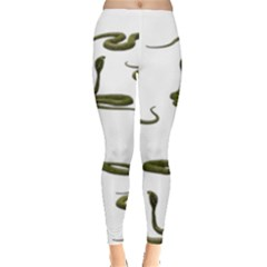 Snake Cobra Reptile Poisonous Leggings  by HermanTelo
