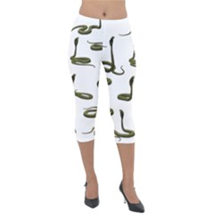 Snake Cobra Reptile Poisonous Lightweight Velour Capri Leggings  by HermanTelo