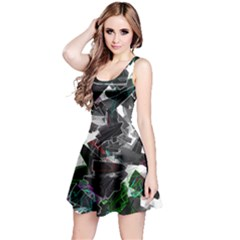 Abstract Science Fiction Reversible Sleeveless Dress