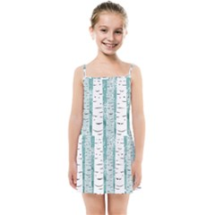 Birch Tree Background Snow Kids  Summer Sun Dress