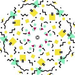 Abstract Squqre Chevron Folding Umbrellas