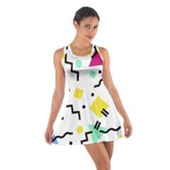 Abstract Squqre Chevron Cotton Racerback Dress