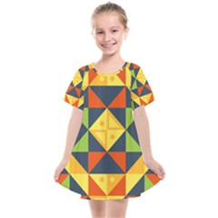Background Geometric Color Plaid Kids  Smock Dress by Mariart