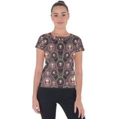 Abstract Pattern Green Short Sleeve Sports Top  by HermanTelo