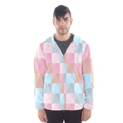 Background Pastel Men s Hooded Windbreaker