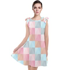 Background Pastel Tie Up Tunic Dress by HermanTelo