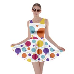 Background Polka Dot Skater Dress