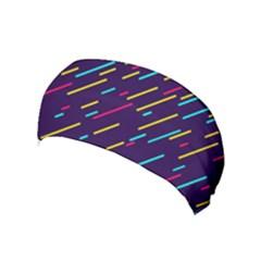 Background Lines Forms Yoga Headband