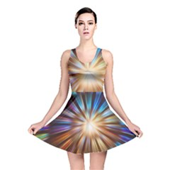 Background Spiral Abstract Reversible Skater Dress