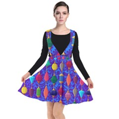 Background Stones Jewels Plunge Pinafore Dress