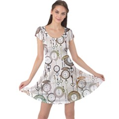Background Watches Key Time Retro Cap Sleeve Dress by HermanTelo