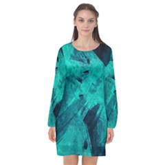 Background Texture Long Sleeve Chiffon Shift Dress  by HermanTelo