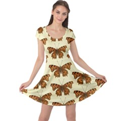 Butterflies Insects Pattern Cap Sleeve Dress by HermanTelo