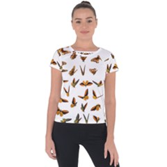 Butterflies Insect Swarm Short Sleeve Sports Top