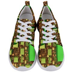 Blocks Cubes Green Men s Lightweight Sports Shoes