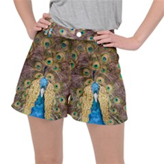 Bird Peacock Feather Ripstop Shorts by HermanTelo