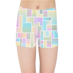 Color Blocks Abstract Background Kids  Sports Shorts by HermanTelo