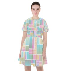 Color Blocks Abstract Background Sailor Dress by HermanTelo