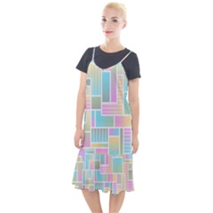 Color Blocks Abstract Background Camis Fishtail Dress by HermanTelo