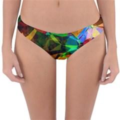 Color Abstract Polygon Reversible Hipster Bikini Bottoms by HermanTelo