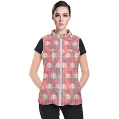 Colorful Background Abstract Women s Puffer Vest by HermanTelo