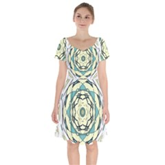 Circle Vector Background Abstract Short Sleeve Bardot Dress
