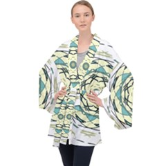 Circle Vector Background Abstract Velvet Kimono Robe by HermanTelo