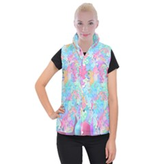 Eggs Happy Easter Rainbow Women s Button Up Vest by HermanTelo