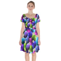 Eggs Happy Easter Short Sleeve Bardot Dress
