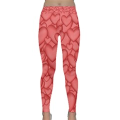 Hearts Love Valentine Classic Yoga Leggings by HermanTelo