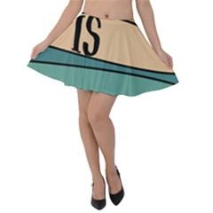 Love Sign Romantic Velvet Skater Skirt