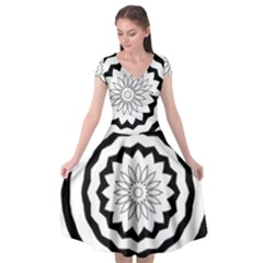Mandala Cap Sleeve Wrap Front Dress by HermanTelo