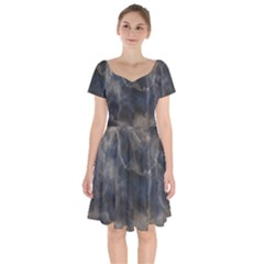 Marble Surface Texture Stone Short Sleeve Bardot Dress by HermanTelo