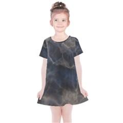Marble Surface Texture Stone Kids  Simple Cotton Dress