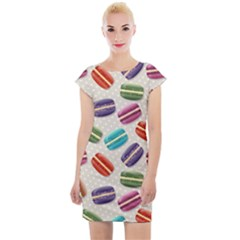 Macaron Bread Cap Sleeve Bodycon Dress