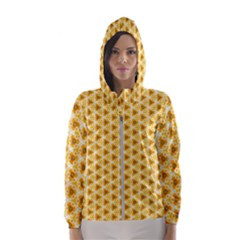 Pattern Halloween Pumpkin Color Women s Hooded Windbreaker