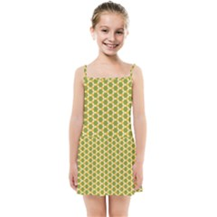 Pattern Halloween Pumpkin Color Green Kids  Summer Sun Dress