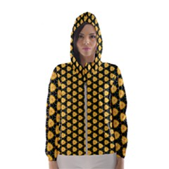 Pattern Halloween Pumpkin Color Yellow Women s Hooded Windbreaker by HermanTelo