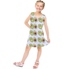 Pattern Avocado Green Fruit Kids  Tunic Dress