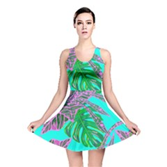Painting Oil Leaves Nature Reason Reversible Skater Dress
