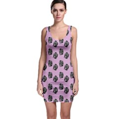 Girl Face Lilac Bodycon Dress by snowwhitegirl