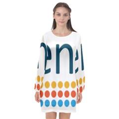 Benelux Logo Long Sleeve Chiffon Shift Dress  by abbeyz71