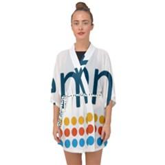 Benelux Logo Half Sleeve Chiffon Kimono by abbeyz71