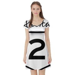 Alberta Highway 2 Shield Short Sleeve Skater Dress by abbeyz71