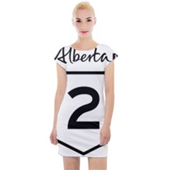 Alberta Highway 2 Shield Cap Sleeve Bodycon Dress by abbeyz71