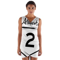 Alberta Highway 2 Shield Wrap Front Bodycon Dress by abbeyz71