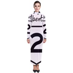 Alberta Highway 2 Shield Turtleneck Maxi Dress by abbeyz71
