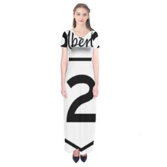Alberta Highway 2 Shield Short Sleeve Maxi Dress by abbeyz71