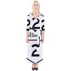 Alberta Highway 2 Shield Quarter Sleeve Wrap Maxi Dress by abbeyz71