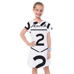 Alberta Highway 2 Shield Kids  Drop Waist Dress by abbeyz71
